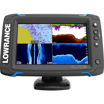 Lowrance Elite-7 Ti mit TotalScan Mid/High +Structure Scan Geber